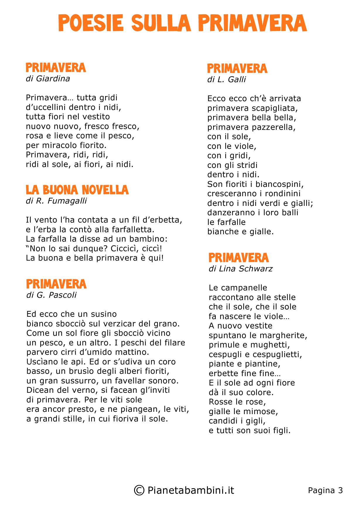 Scuola Primaria Poesie Di Natale.Filastroc Filastrocca Di Primav Poesie Languageservices