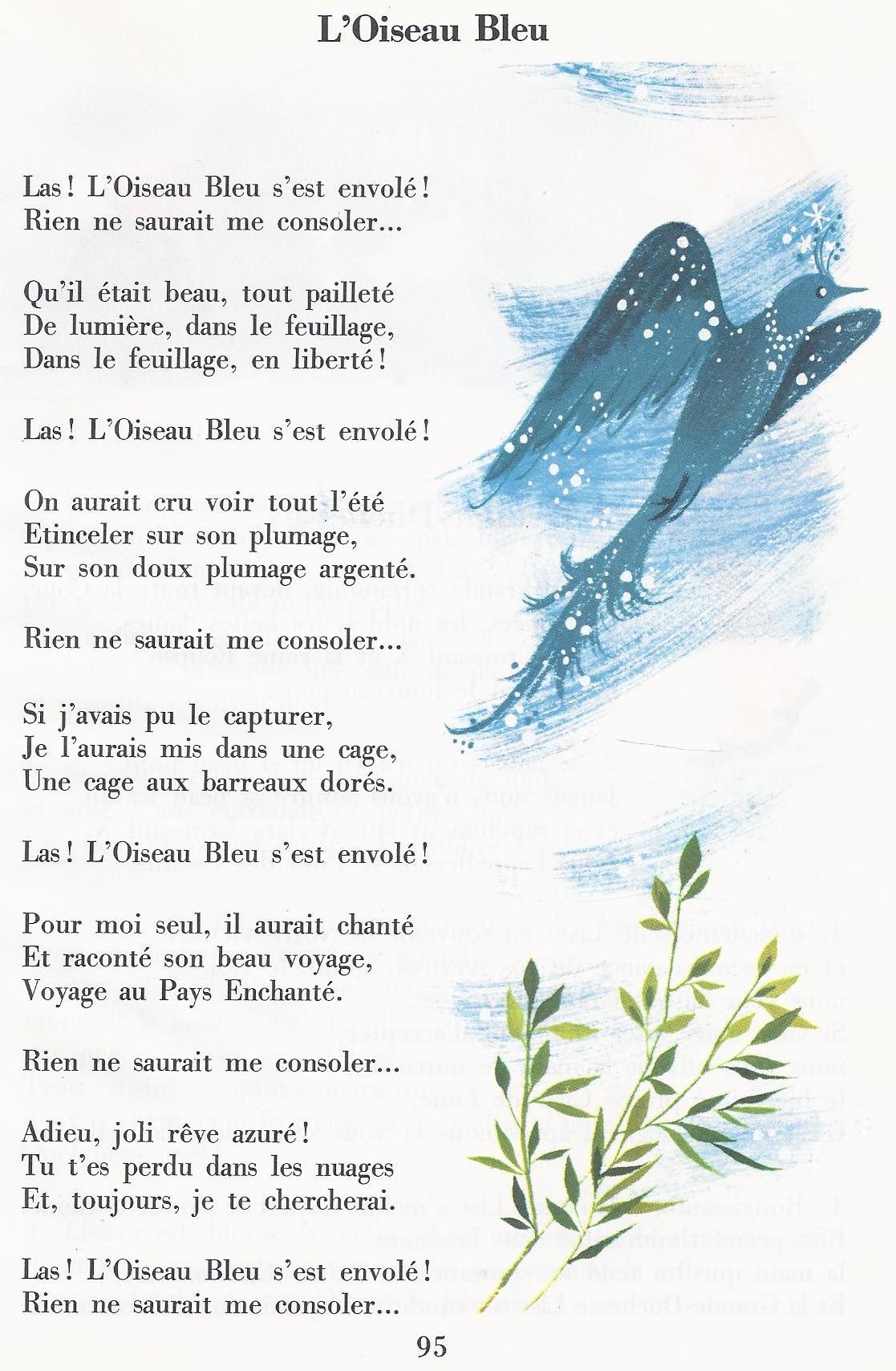 poesie oiseau bleu