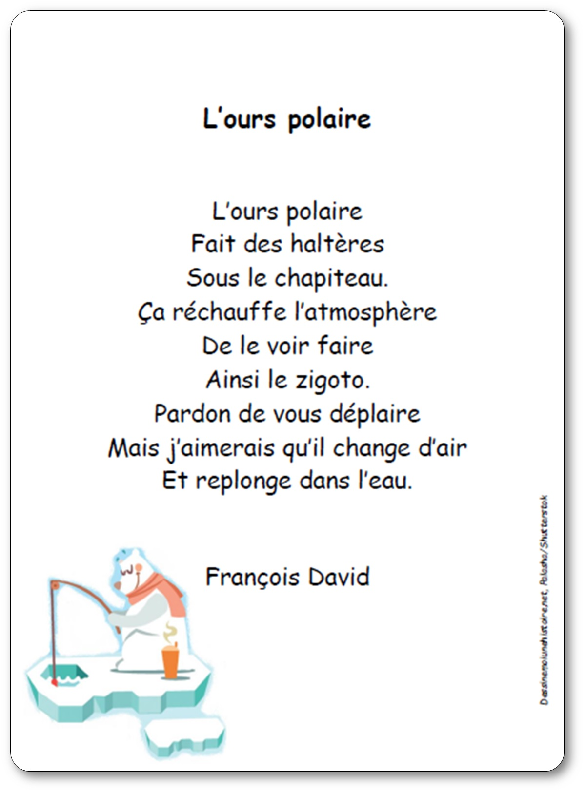poesie ours