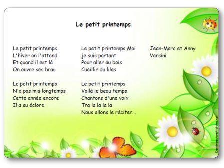 poesie petit printemps