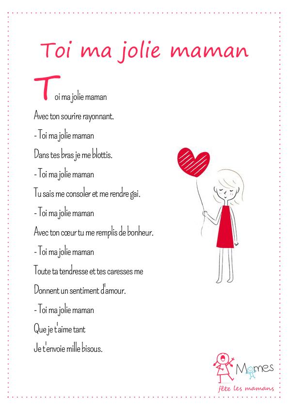poesie pour maman