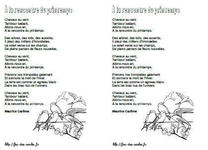 poesie printemps cm2