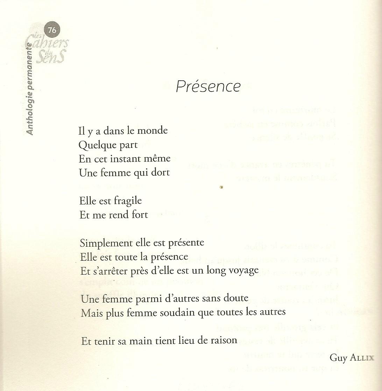 poesie qui rend hommage