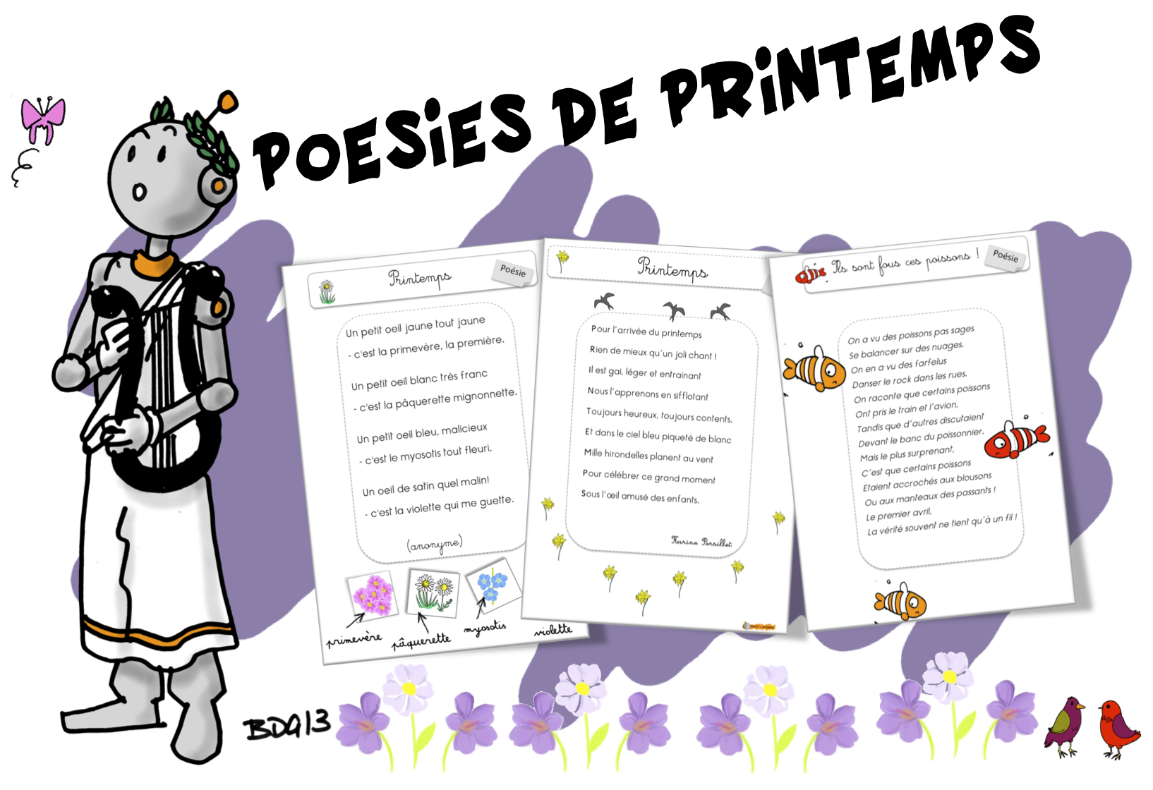 poesie sur le printemps cm2