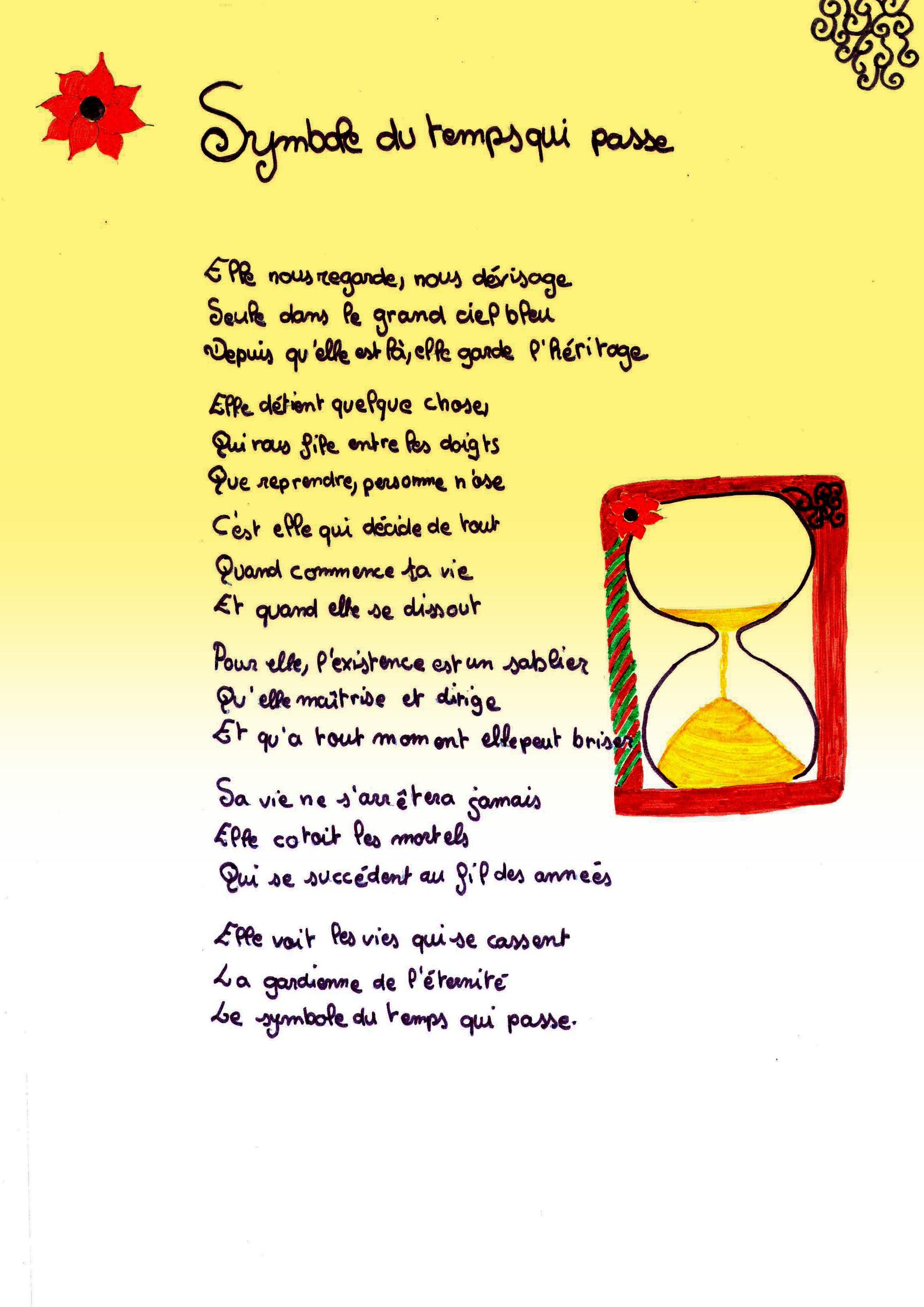 poesie temps