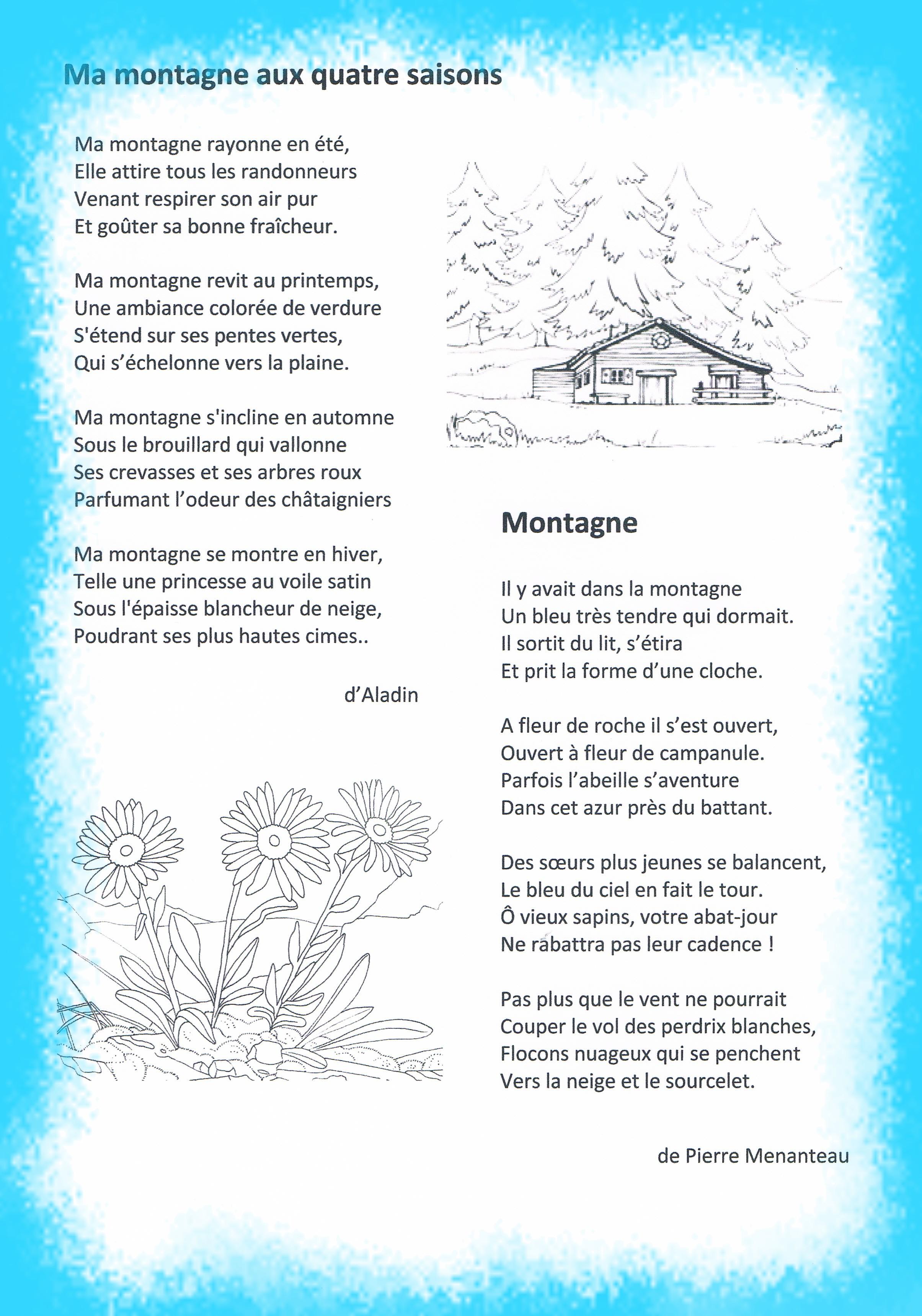 poesie theme montagne