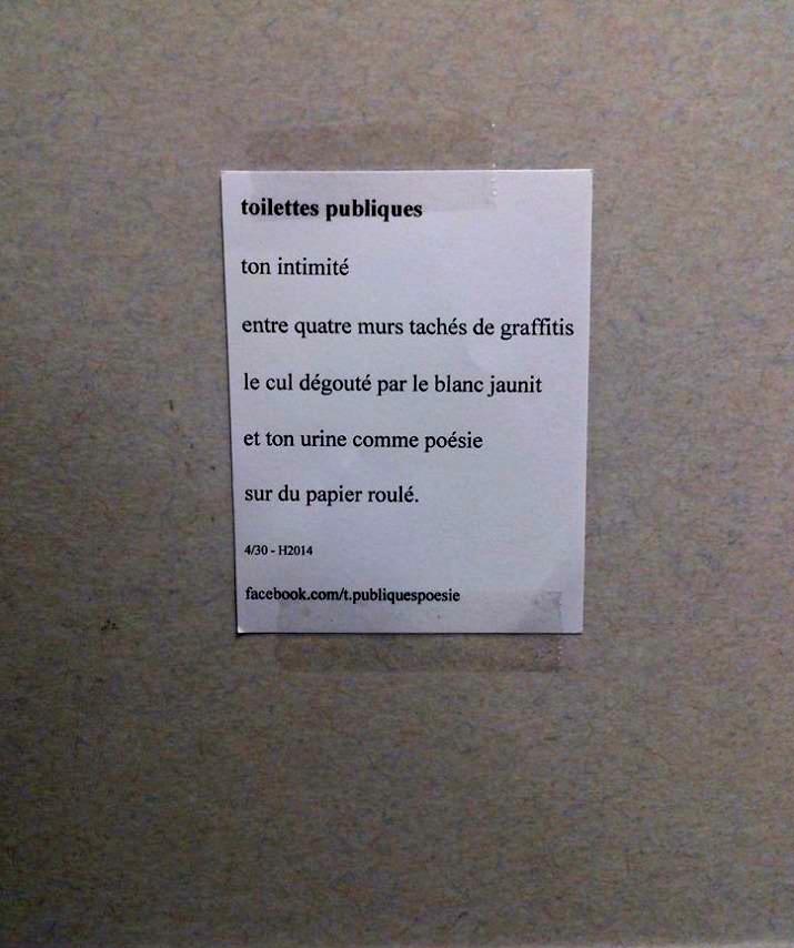 poesie toilette