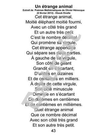poesie un etrange animal