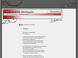 poesie webnet les grands classiques