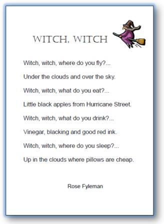 poesie witch witch