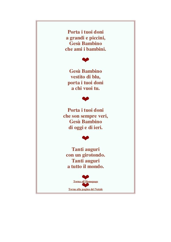 Poesie Di Natale Per Bambini Asilo.Poesie X Bambini