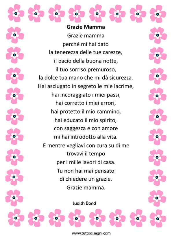 poesie x la festa della mamma
