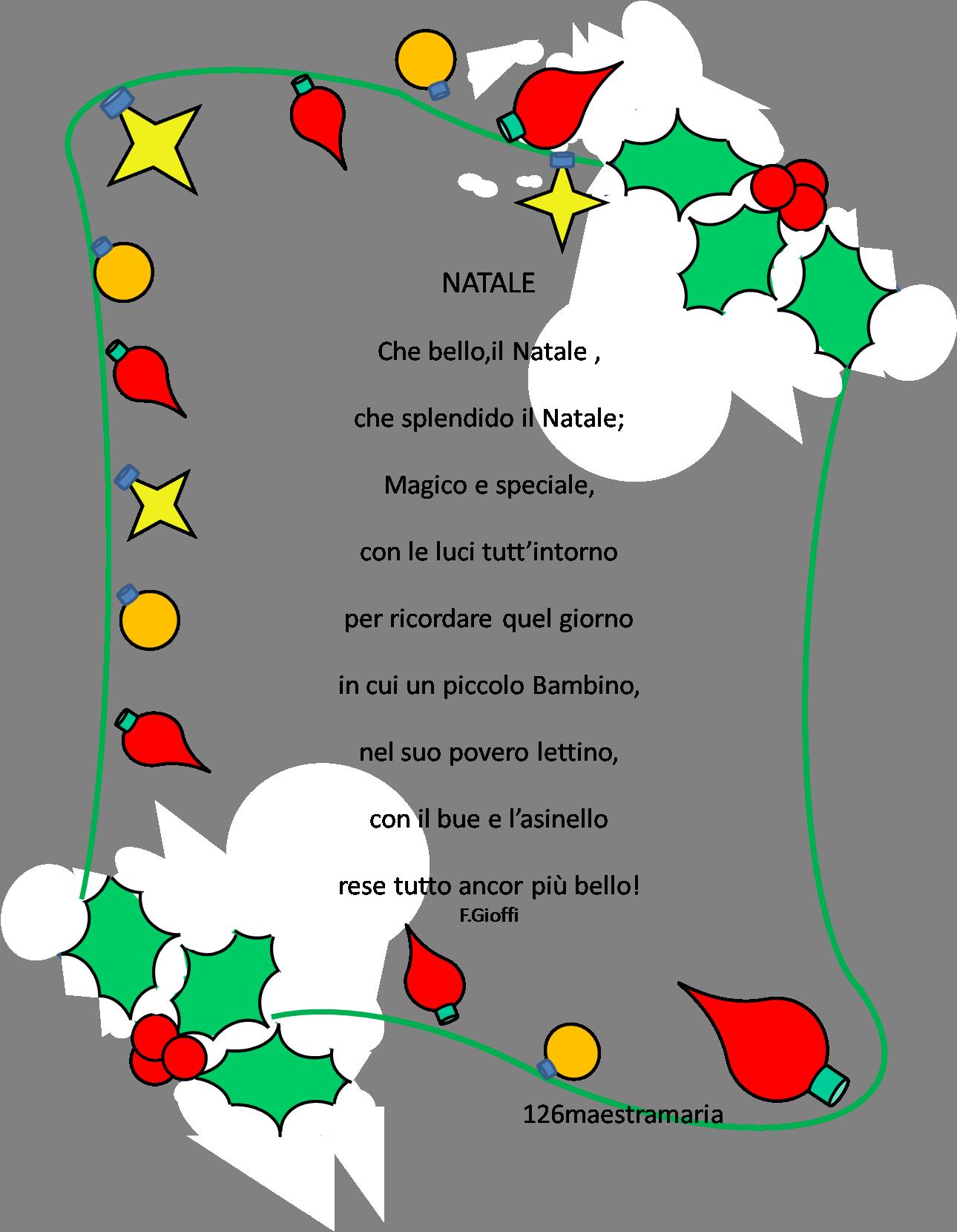 Poesie Di Natale In Inglese Per Bambini.Poesie X Natale Bambini