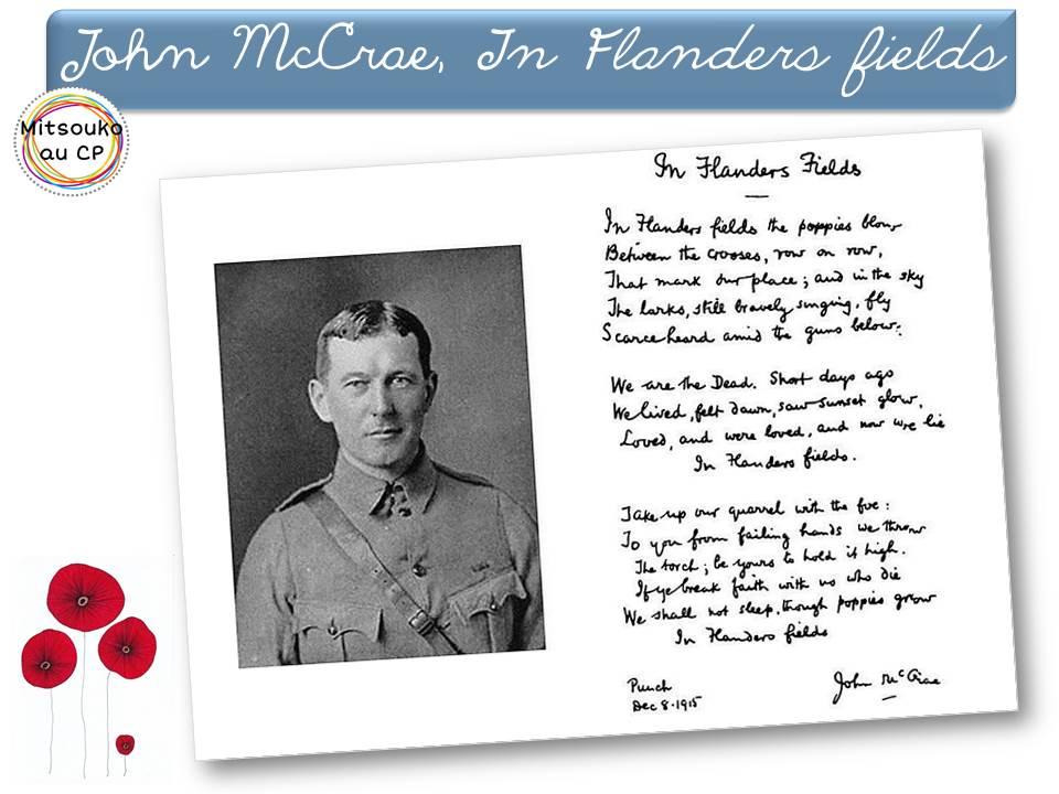 poeme 1 guerre mondiale