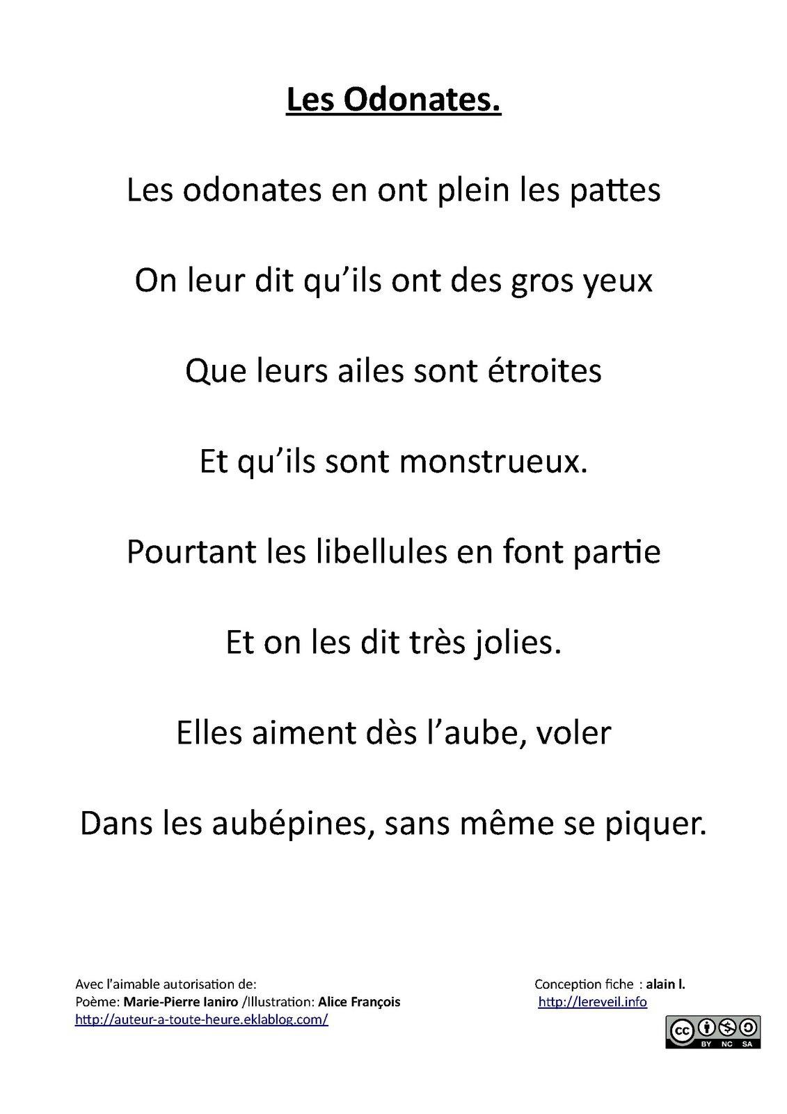 poeme 4 lignes
