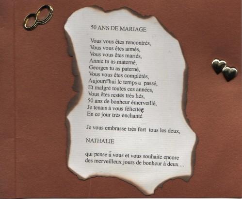 poeme 57 ans de mariage