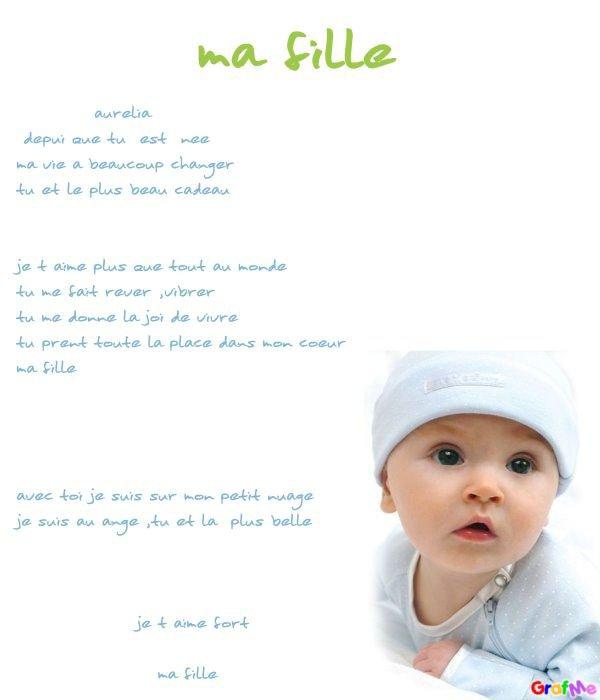 poeme 6 mois de ma fille