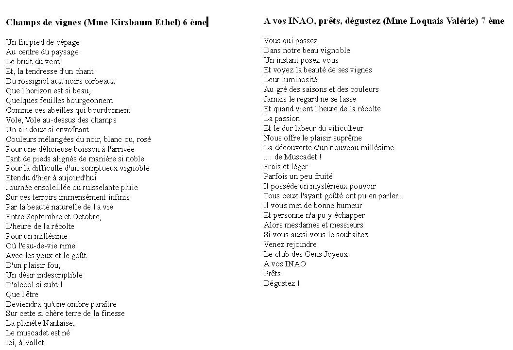 poeme 6 vers
