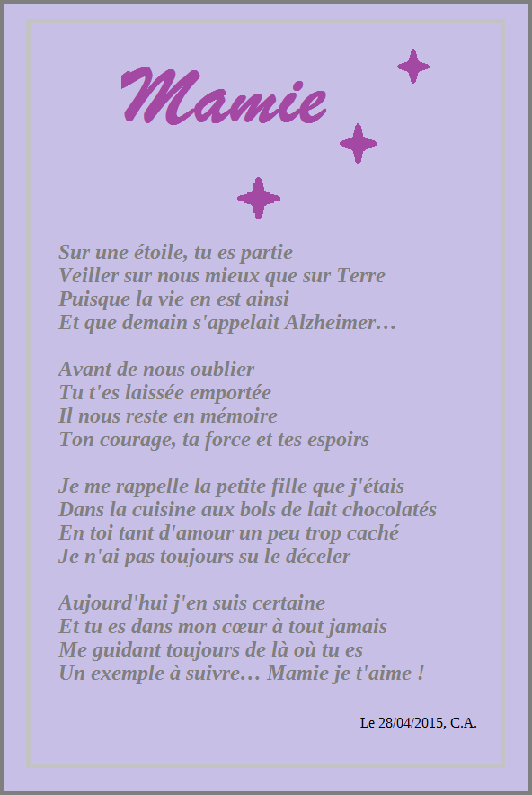 poeme 80 ans mamy