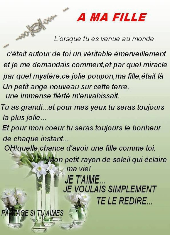 poeme a ma fille