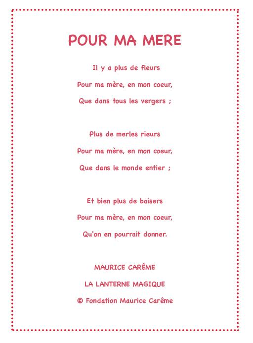 poeme a ma mere