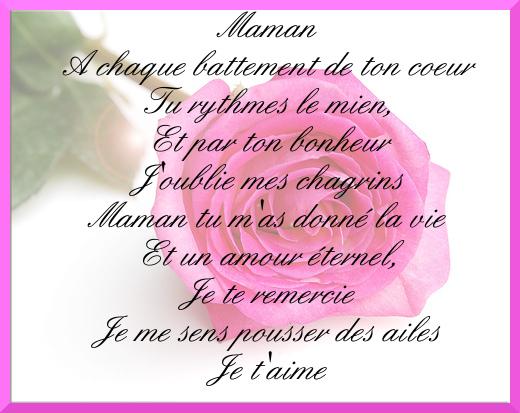 poeme anniversaire maman