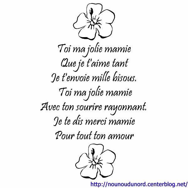 poeme bonne fete mamie