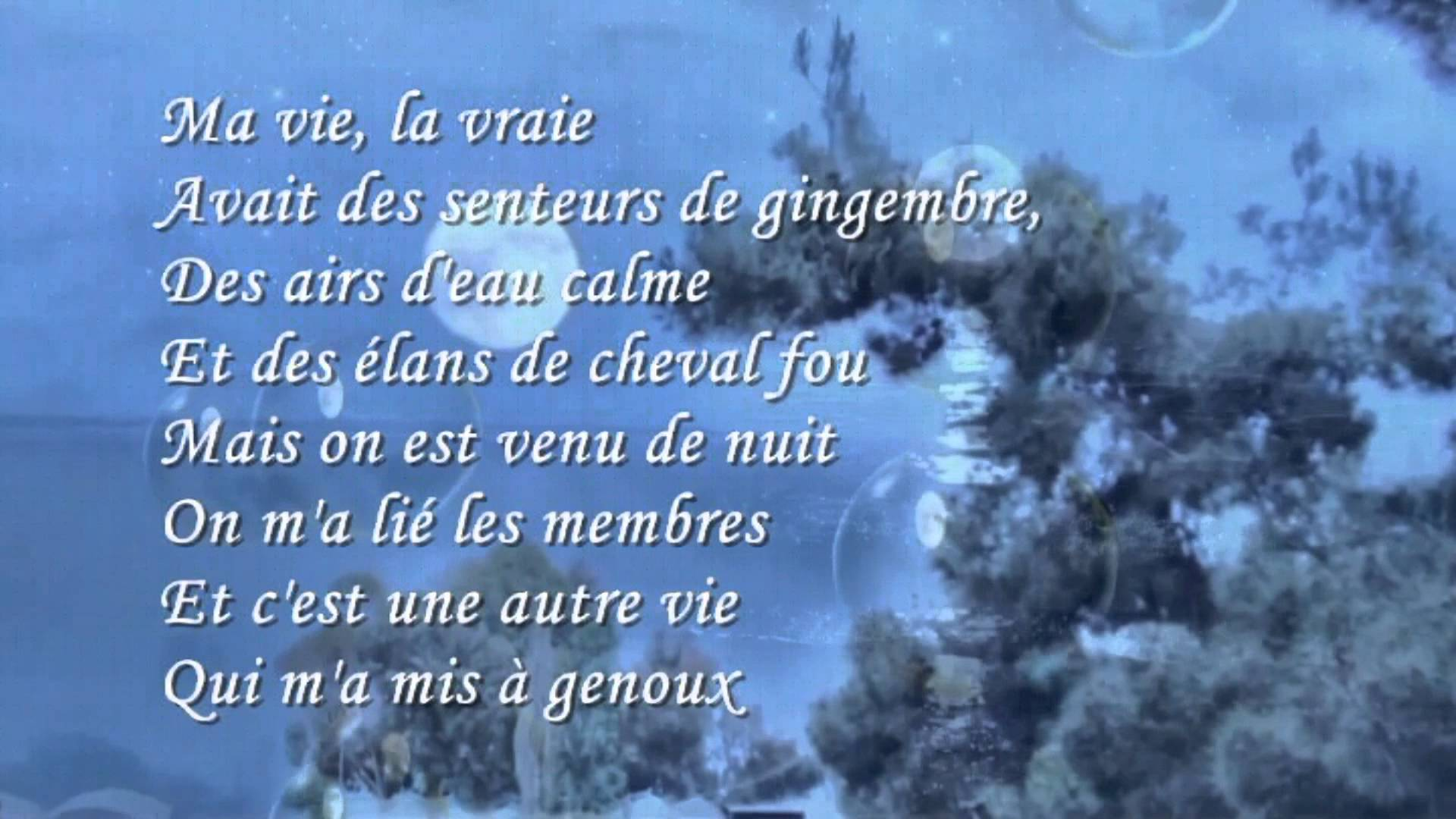 poeme c'est la vie