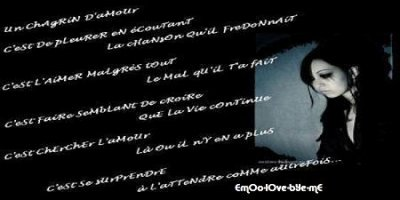 poeme chagrin d'amour