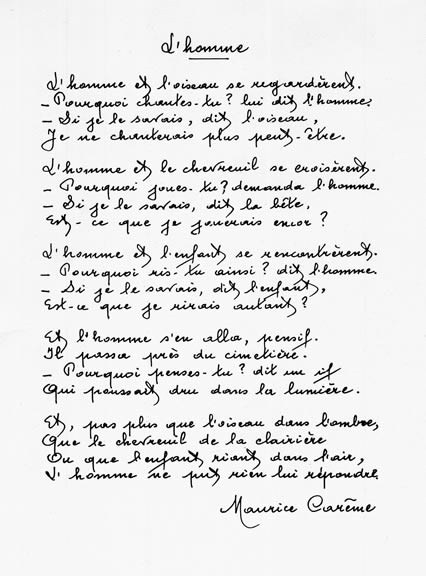 poeme connu