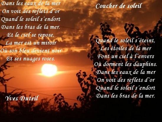 poeme coucher de soleil