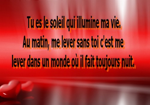 poeme d'amour court