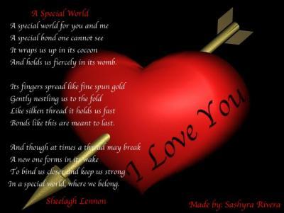 poeme d'amour en anglais