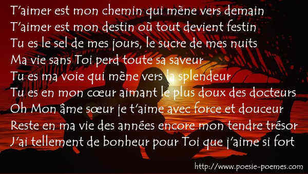 poeme d'amour sms