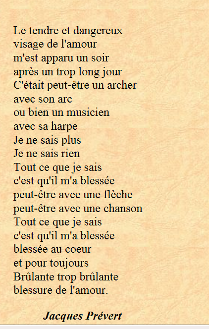 poeme de prevert