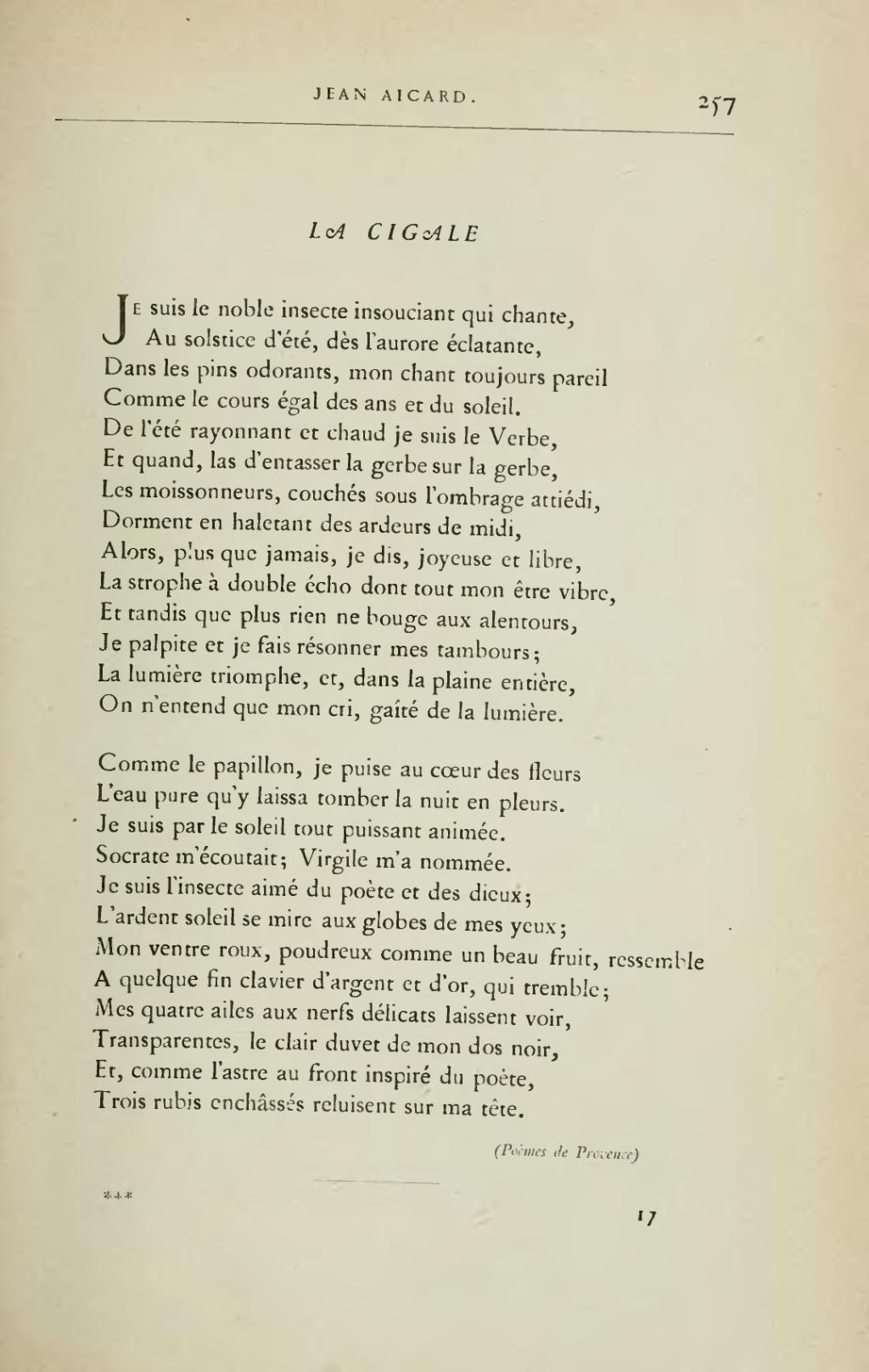 poeme du 19eme siecle