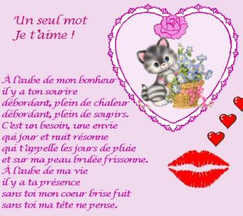 poeme emouvant d'amour