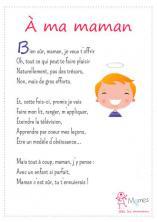 poeme fete des meres maternelle