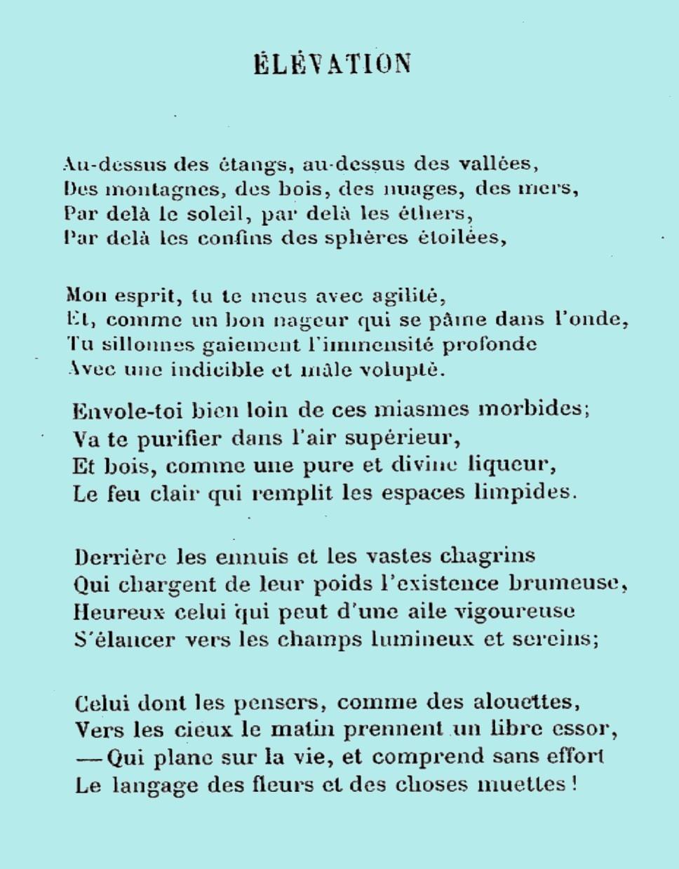 poeme fleur du mal