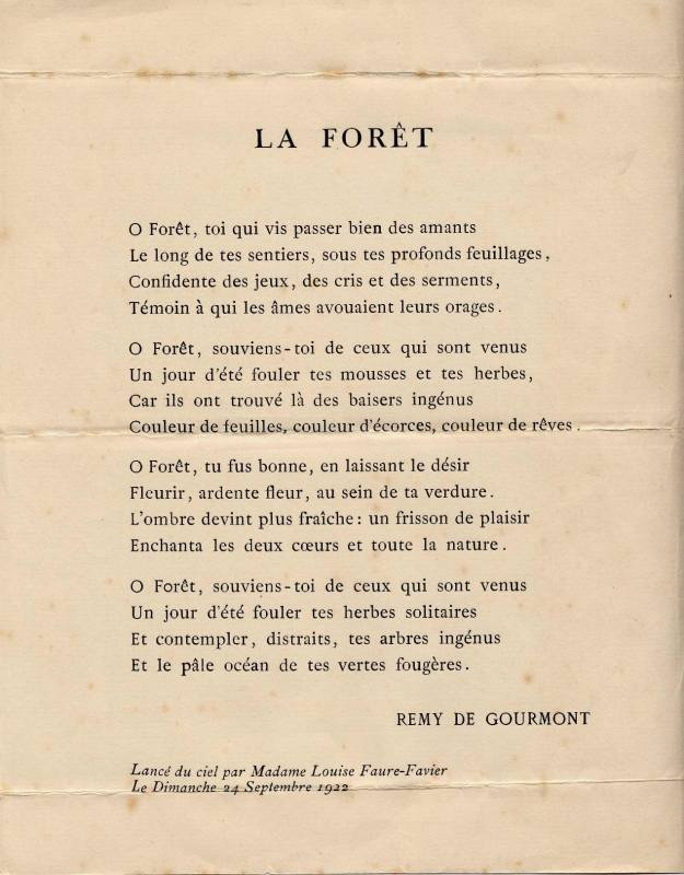poeme foret