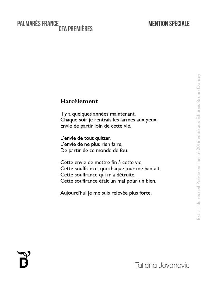 poeme harcelement