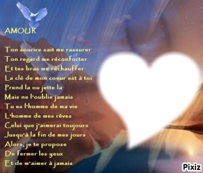 poeme homme de ma vie