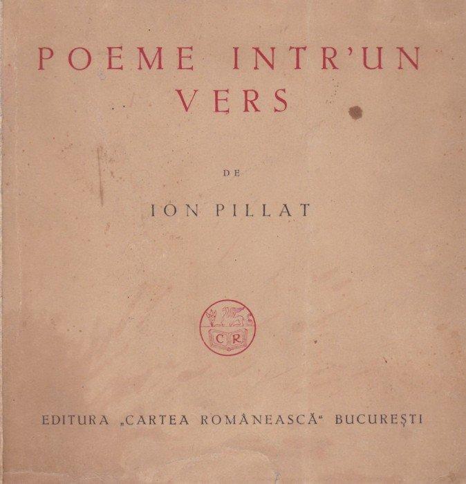 poeme intr-un vers