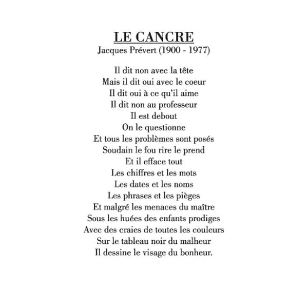 poeme jacques prevert