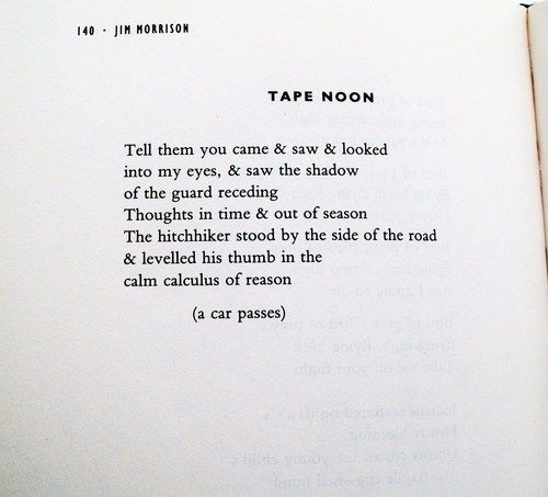 poeme jim morrison