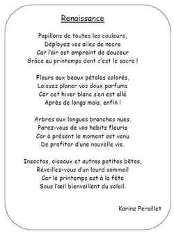 poeme karine persillet