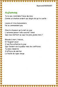 poeme l'automne