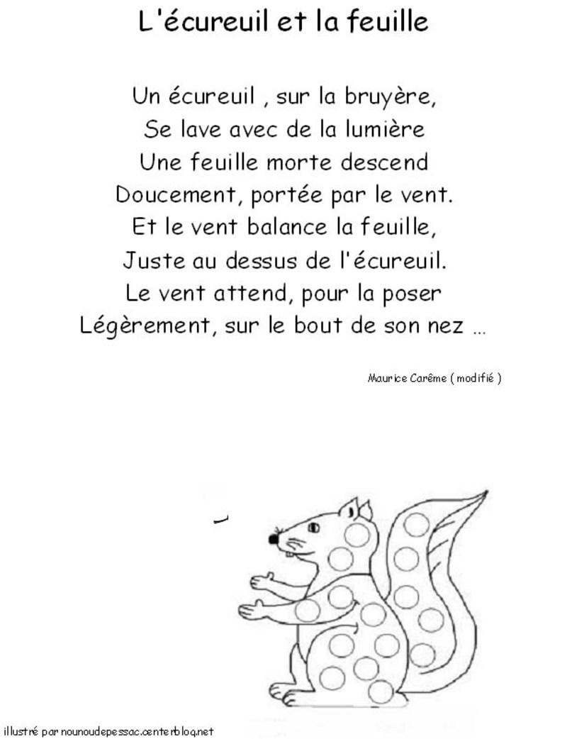 poeme l'ecureuil
