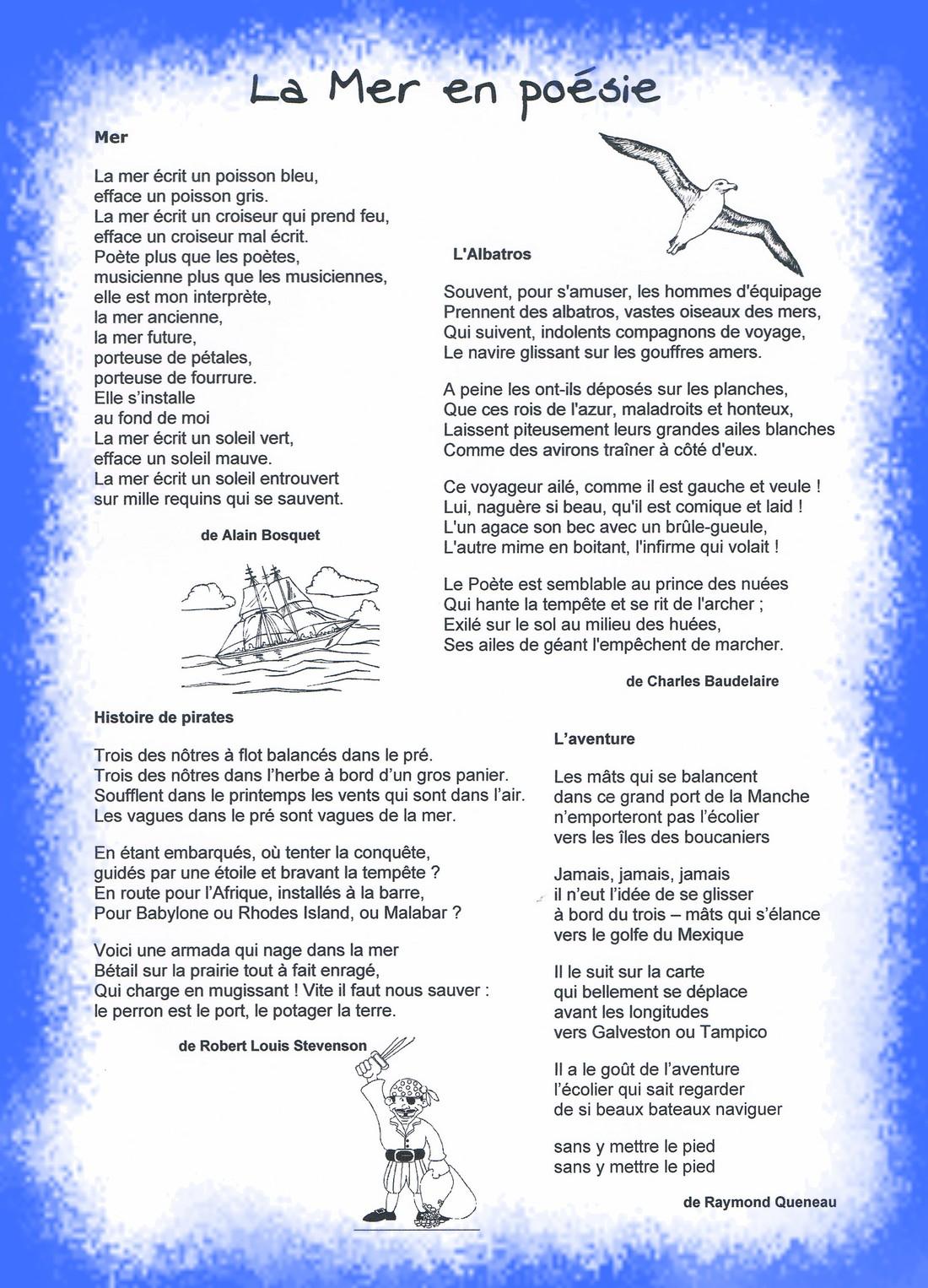poeme la mer