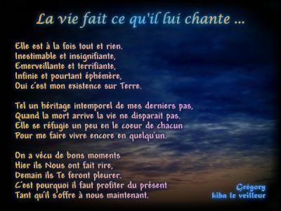 poeme la vie